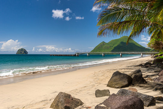 Le Diamant Beach in Martinique (2019)