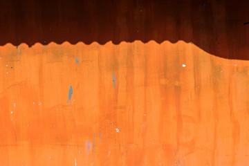 Wall Mural - Grunge orange wall as background