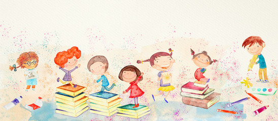 Creative kids. Watercolor.