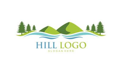Hill illustration logo