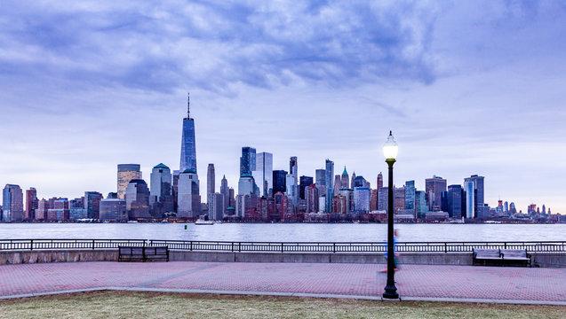 Liberty Park Looking onto Battery Park