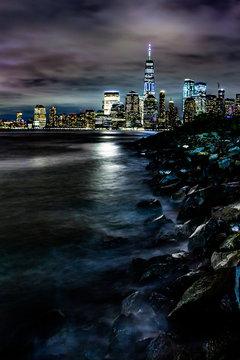 Lower Manhattan Battery Park from Liberty Park