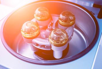 Platelet-Rich plasma preparation. Centrifuge. Medical