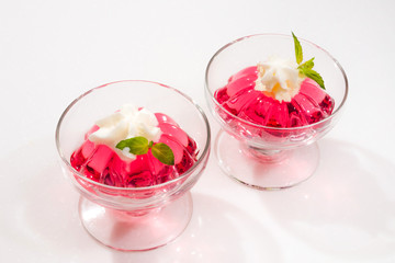 フルーツゼリー Red and beautiful fruit jelly