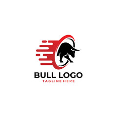 bull logo icon vector isolated