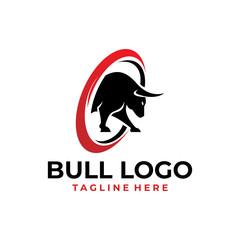 bull logo icon vector isolated
