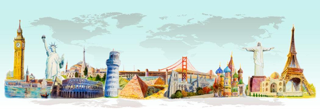 Travel landmark architecture world.