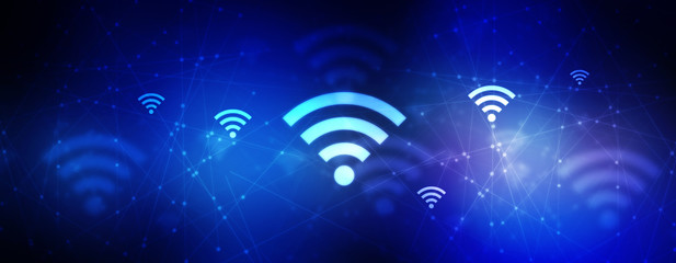 2d illustration WiFi symbol concept