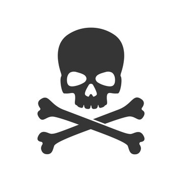 skull and crossbones of pirate flag