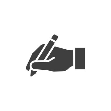 write icon hand with pen