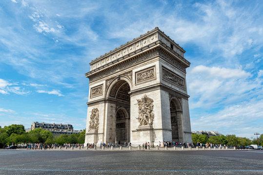 Paris Arc de Triomphe View - Majestic Structure