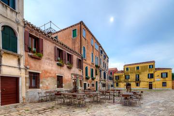 Wall Mural - Street scene in Venice, Italy.