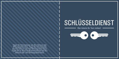 Schlüsseldienst Flyer Design Vorlage