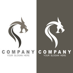 dragon mascot vector logo design with modern illustration concept style for badge, head dragon illustration, flat logo