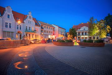 Photo sur Plexiglas Europe de l Est Main Square in Mikolajki