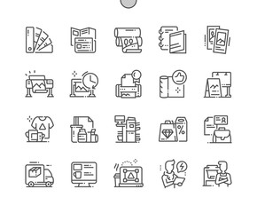 Polygraphy Well-crafted Pixel Perfect Vector Thin Line Icons 30 2x Grid for Web Graphics and Apps. Simple Minimal Pictogram