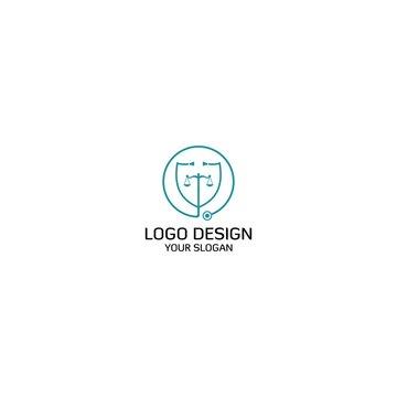 Doctor Lawyer Logo Design Vector