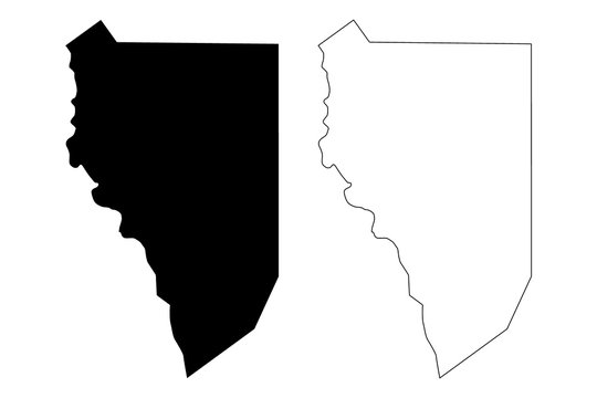 Zapata County, Texas (Counties in Texas, United States of America,USA, U.S., US) map vector illustration, scribble sketch Zapata map