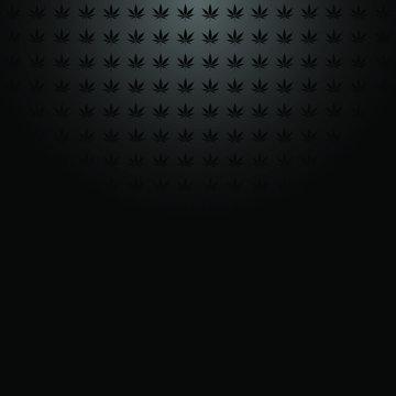 Marijuana pattern top light vector dark background