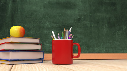 Back to School 3d Render