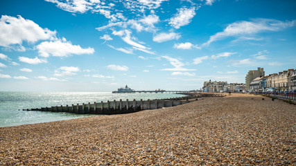 Eastbourne Seafront and Pier, East Sussex, England Wall mural