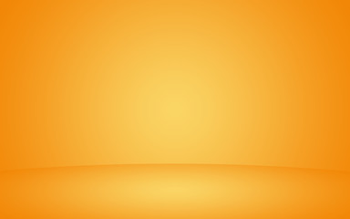 Abstract orange background layout design studio room business report with smooth circle gradient color. luxury mix yellow orange amber gradient background empty room for display product ad and website