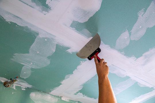 Trockenbau, Wände und Decken verputzen