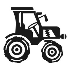 Farm tractor icon. Simple illustration of farm tractor vector icon for web design isolated on white background
