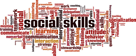 Social skills word cloud