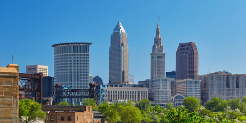 View of the Cleveland, Ohio skyline in 2016