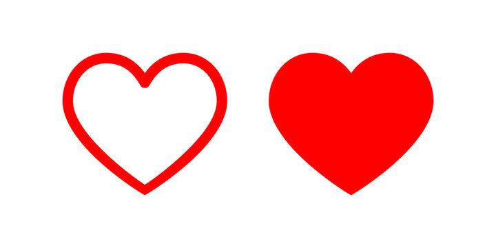 Heart vector icon. Love symbol illustration.