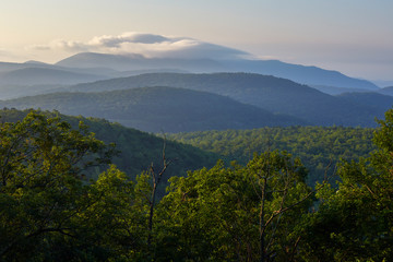 Scenic view of the Blue Ridge mountains in Nelson County, Virginia...photographed along the Blue Ridge Parkway