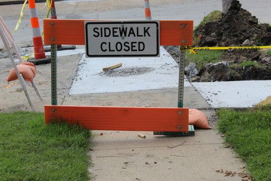 Closed Sidwalk