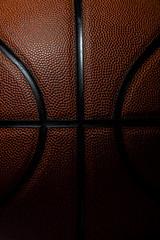 Closeup detail of basketball ball texture background