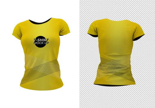 T-Shirt Front and Back Mockup