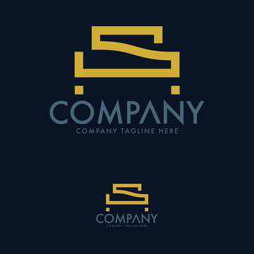 Letter S Bedding Logo Design Template