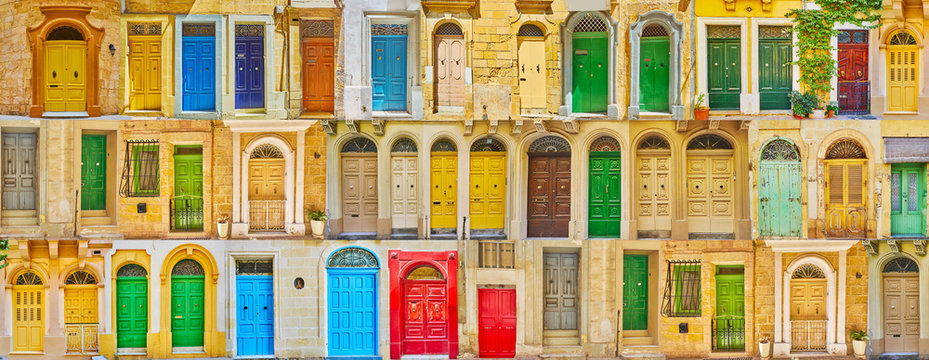 Colorful Maltese doors