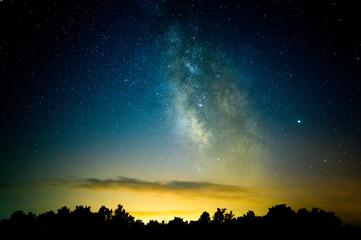 Fotobehang Afrika Night sky with Milky Way