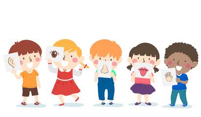 Kids Five Senses Lesson Illustration
