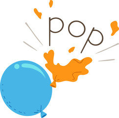 Balloon Onomatopoeia Sound Pop Illustration