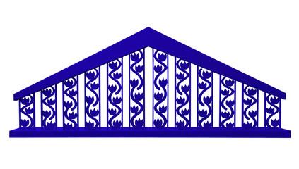 Decorative fence - blue