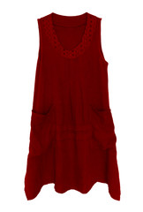 Dress isolated on white - red