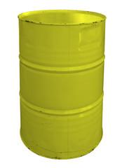 Single yellow metallic barrel