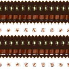 Hand drawn navajo tribal aztec drawing seamless pattern colorful background