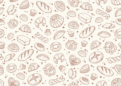 bakery seamless background