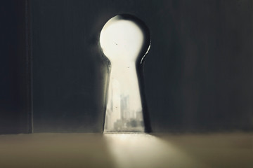 surreal keyhole from which we see the way to freedom