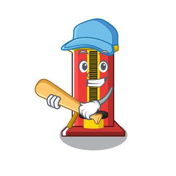 Playing baseball hammer cartoon shaped character game machine
