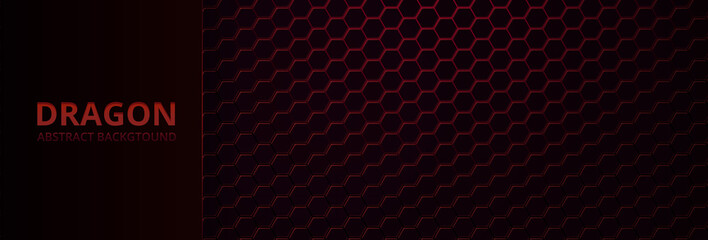 Abstract neon background with red dragon skin, and texture.