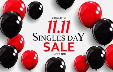 November 11 Singles Day Sale. Vector Illustration Fotobehang