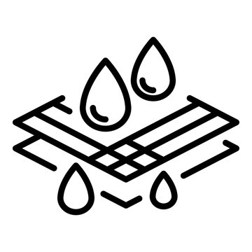 Waterproof fabric icon. Outline waterproof fabric vector icon for web design isolated on white background
